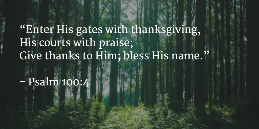 The difference between thanking and praising the Lord