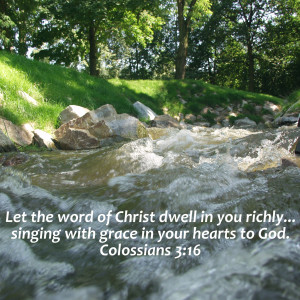 Have you sung God's Word today?