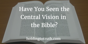 Have You Seen the Central Vision in the Bible?
