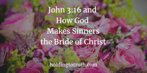 John 3:16 and how God makes sinners the bride of Christ