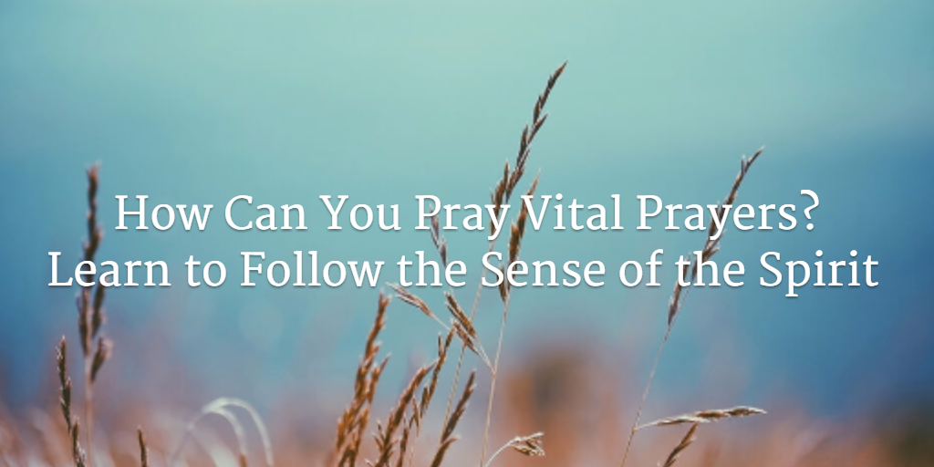 How to Pray According to the Sense of the Spirit