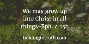 4 Simple Ways to Grow in Christ