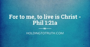 How to live Christ
