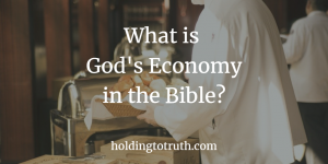What is God's economy in the Bible?