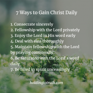 7 Ways to Gain Christ - Summary