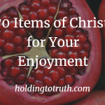 70 Items of Christ as Everything for your enjoyment